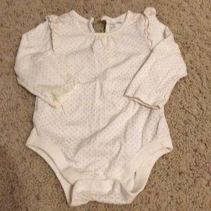 Sparkle onesie with ruffles